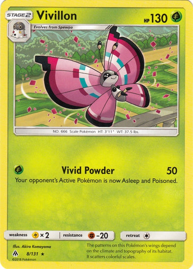 Buy Vivillon - 8/131 and more Great Pokemon Products at 401 Games
