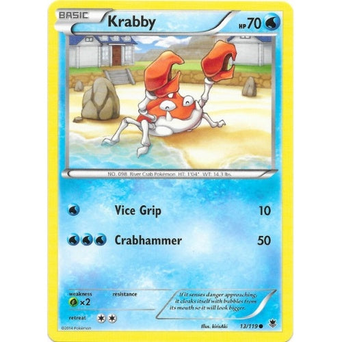 Krabby - 13/119 - Reverse Foil (PHF013R) available at 401 Games Canada
