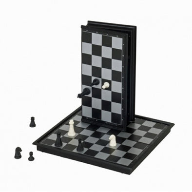 "Chess - 10"" Magnetic Folding Travel Size - Wood Expressions - 401 Games"