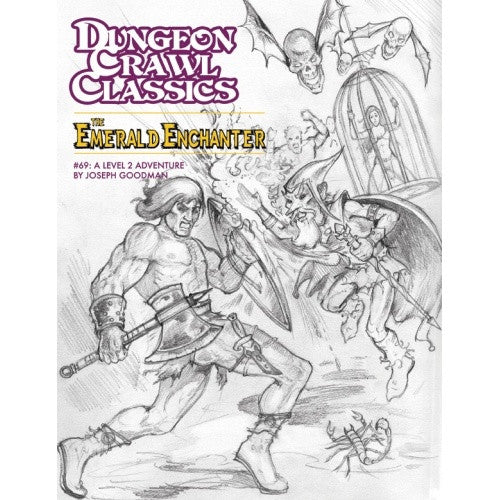 Dungeon Crawl Classics: The Emerald Enchanter - Sketch Cover - 401 Games