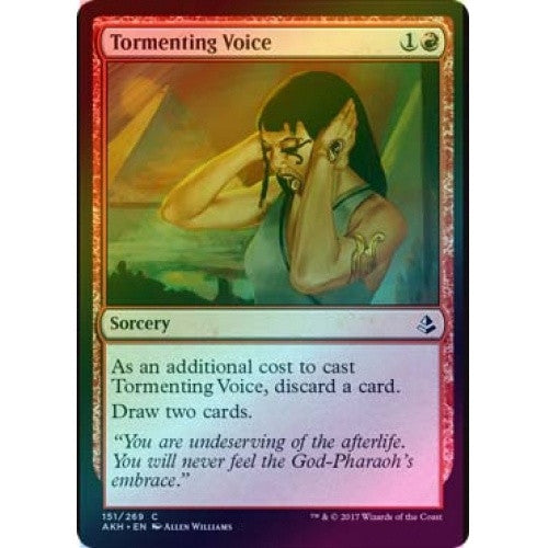 Tormenting Voice (Foil) (AKH) available at 401 Games Canada