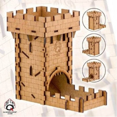 Dice Tower - Q-Workshop - Human (Wood) - 401 Games