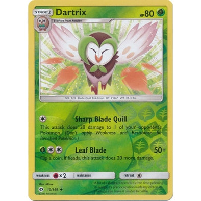 Buy Dartrix - 10/149 - Reverse Foil and more Great Pokemon Products at 401 Games