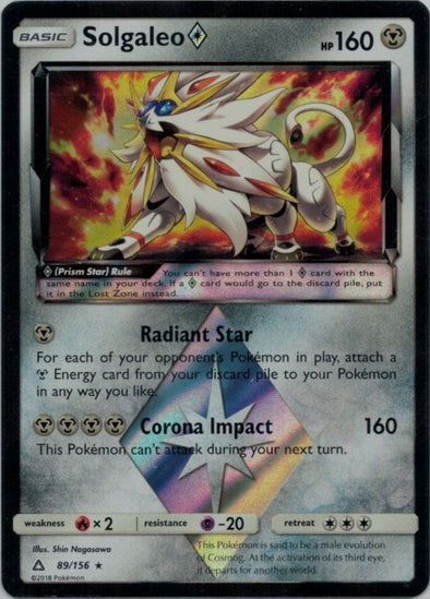 Buy Solgaleo Prism Star - 89/156 and more Great Pokemon Products at 401 Games