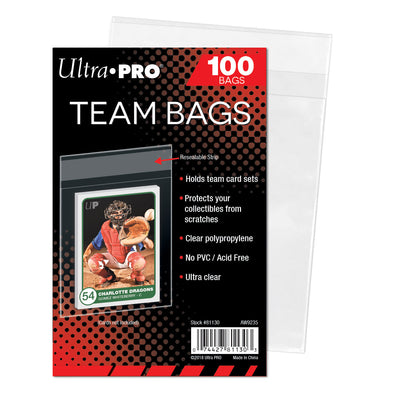 Buy Ultra Pro - Team Bags -100 Count and more Great Sleeves & Supplies Products at 401 Games
