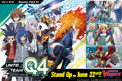 Cardfight!! Vanguard - V-BT01 - Unite! Team Q4 Booster Box available at 401 Games Canada
