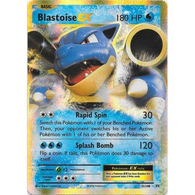 Buy Blastoise-EX - 21/108 and more Great Pokemon Products at 401 Games