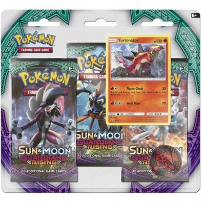 Buy Pokemon - Guardians Rising 3-Pack Blister Turtonator Promo and more Great Pokemon Products at 401 Games