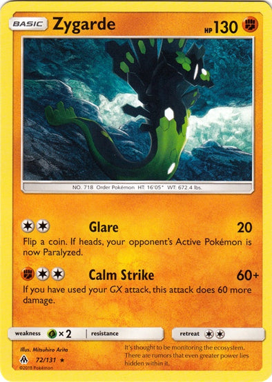 Buy Zygarde - 72/131 and more Great Pokemon Products at 401 Games