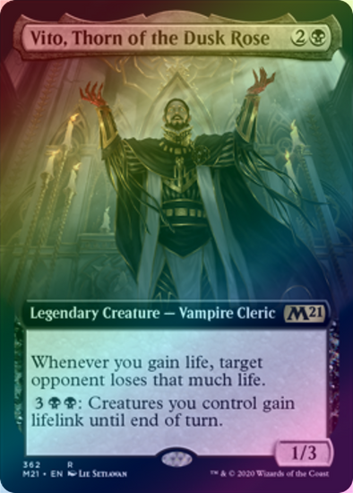Vito, Thorn of the Dusk Rose (Extended Art) (FOIL) (M21) available at 401 Games Canada