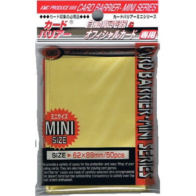 SUPL KMC Mini Card Barrier - 50ct Small Sleeves - Gold - 401 Games
