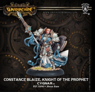 Warmachine - Cygnar - Constance Blaize, Knight of the Prophet available at 401 Games Canada