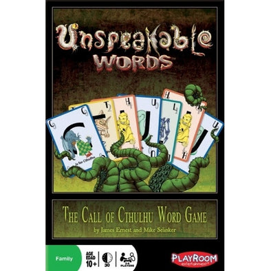 Unspeakable Words available at 401 Games Canada