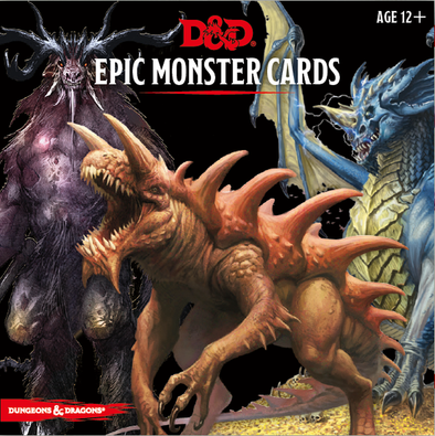 Dungeons and Dragons 5th Edition -Epic Monster Cards