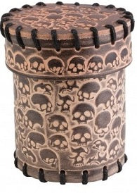 Leather Dice Cup - Skulls - 401 Games