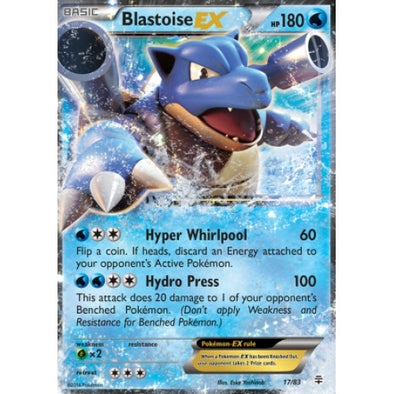 Buy Blastoise-EX - 17/83 and more Great Pokemon Products at 401 Games