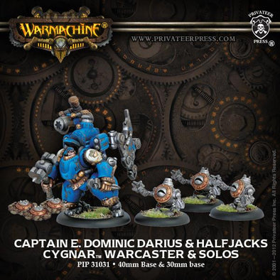 Buy Warmachine - Cygnar - Captain E. Dominic Darius & Halfjacks and more Great Tabletop Wargames Products at 401 Games