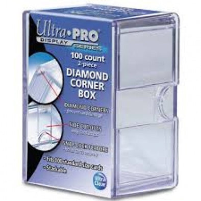 Buy Ultra Pro - Card Storage Box 100Ct - 2 Piece Diamond Corners and more Great Sleeves & Supplies Products at 401 Games
