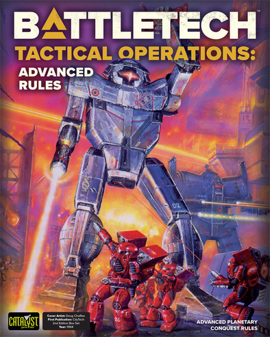Battletech - Tactical Operations - Advanced Rules available at 401 Games Canada