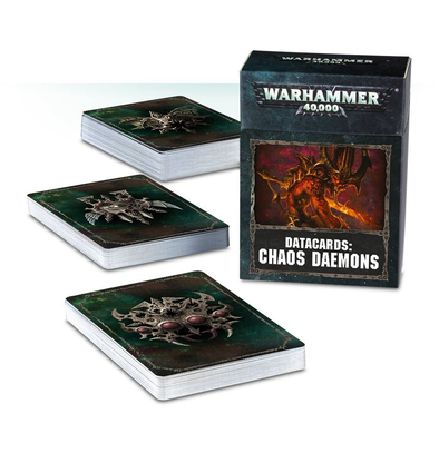 Warhammer 40,000 - Datacards: Chaos Daemons - 8th Edition available at 401 Games Canada