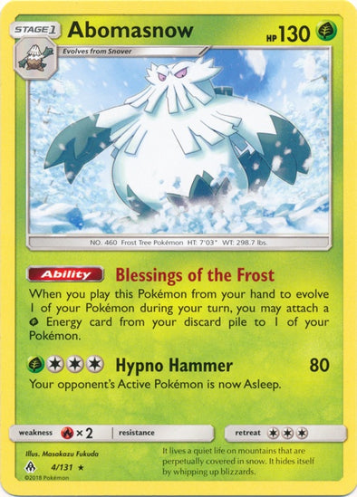 Buy Abomasnow - 4/131 and more Great Pokemon Products at 401 Games