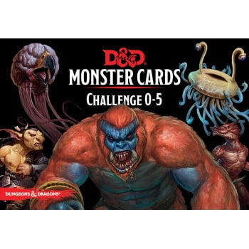 Dungeons and Dragons 5th Edition - Monster Cards - Challenge 0-5 - 401 Games