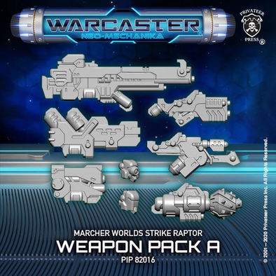 Warcaster - Neo-Mechanika - Marcher Worlds - Strike Raptor Weapon Pack (Variant A) - 401 Games