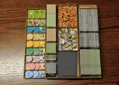 Buy Meeple Realty - Caverna - Box Insert and more Great Inserts and Overlays Products at 401 Games