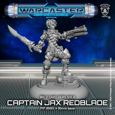 Warcaster - Neo-Mechanika - Wild Card - Captain Redblade - 401 Games