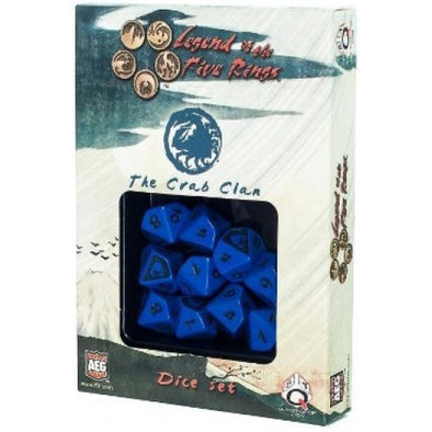 Dice Set - Q-Workshop - Legend of the Five Rings - Crab Clan - 401 Games