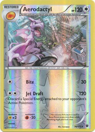 Buy Aerodactyl - 76/124 - Reverse Foil and more Great Pokemon Products at 401 Games