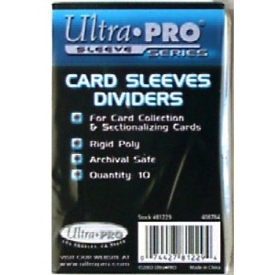 Buy Ultra Pro - Card Dividers 10ct - White and more Great Sleeves & Supplies Products at 401 Games