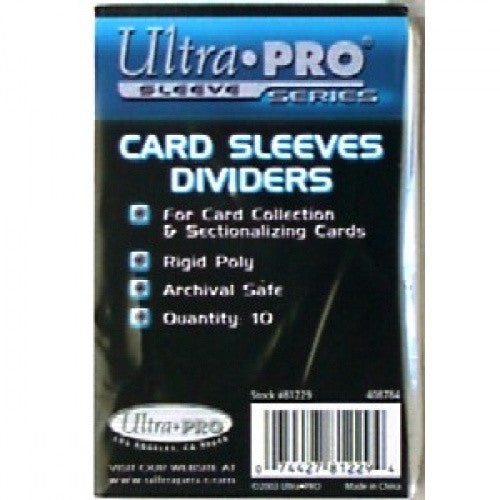 Ultra Pro - Card Dividers 10ct - White - 401 Games
