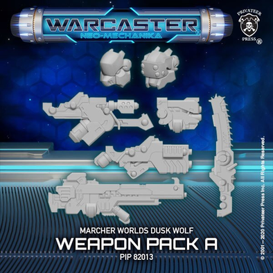 Warcaster - Neo-Mechanika - Marcher Worlds - Dusk Wolf Weapon Pack (Variant A) - 401 Games
