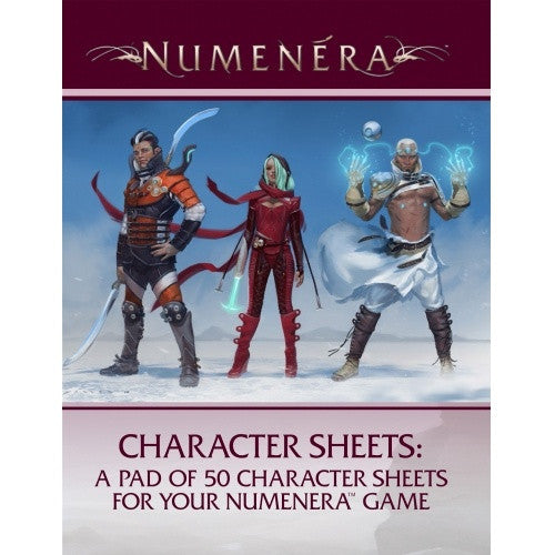 Buy Numenera - Character Sheets (50) and more Great RPG Products at 401 Games