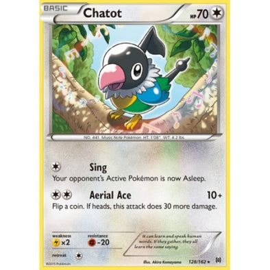 Buy Chatot - 128/162 - Reverse Foil and more Great Pokemon Products at 401 Games