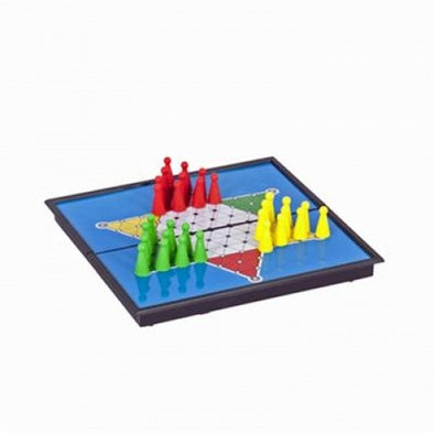 "Chinese Checkers - 8"" Magnetic - Wood Expressions - 401 Games"