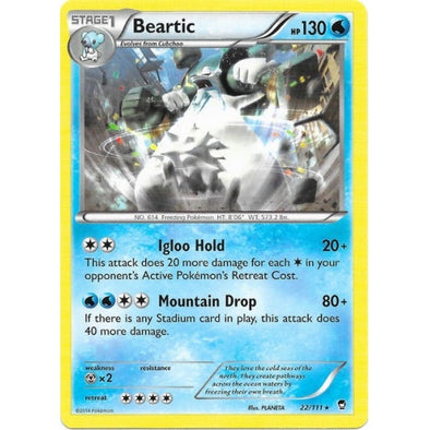 Buy Beartic - 22/111 - Reverse Foil and more Great Pokemon Products at 401 Games