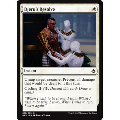 Djeru's Resolve (AKH) available at 401 Games Canada