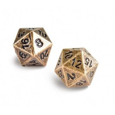 Ultra Pro - Dice Set - 2D20 - Heavy Metal 2 Piece Set - Bronze - 401 Games