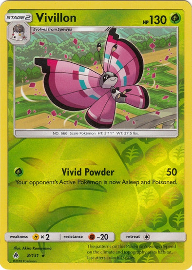 Buy Vivillon - 8/131 - Reverse Foil and more Great Pokemon Products at 401 Games