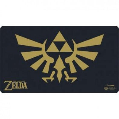 Ultra Pro - Play Mat - Zelda w/Tube- Black and Gold - 401 Games