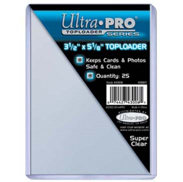 Buy Ultra Pro - Toploader 25ct - 3 1/2x5 1/8 (88.9mm x 130.175mm) and more Great Sleeves & Supplies Products at 401 Games