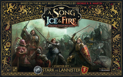 A Song of Ice and Fire - Tabletop Miniatures Game - Stark vs. Lannister Starter Set available at 401 Games Canada