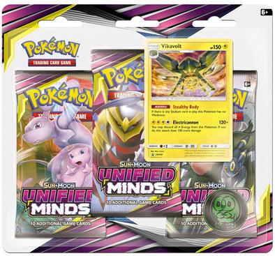 Pokemon - Unified Minds 3 Pack Blister - Vikavolt available at 401 Games Canada
