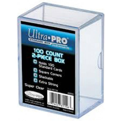 Buy Ultra Pro - 2-Piece Card Storage Box - 100ct and more Great Sleeves & Supplies Products at 401 Games