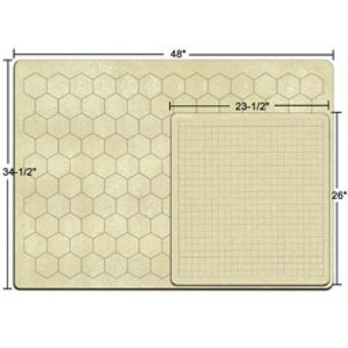 Blank Playmat - Chessex - Double Sided Hex and Square - 23.5 x 26 (96246) available at 401 Games Canada