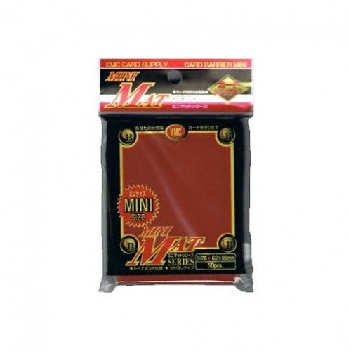 Buy KMC - Mini Mat - Red 50ct Sleeves and more Great Sleeves & Supplies Products at 401 Games