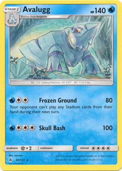 Buy Avalugg - 30/131 and more Great Pokemon Products at 401 Games