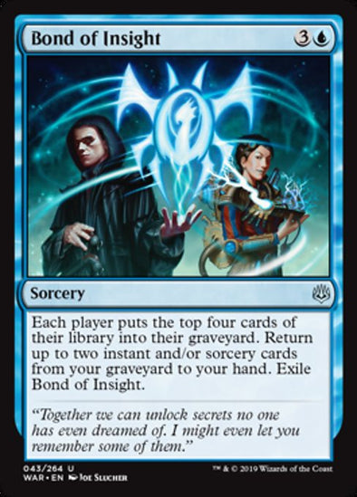 Buy Bond of Insight (WAR) and more Great Magic: The Gathering Products at 401 Games